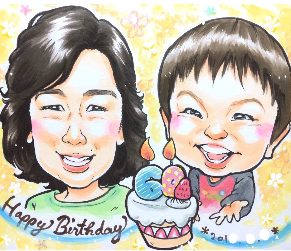 マジェリンの誕生日プレゼントの似顔絵
