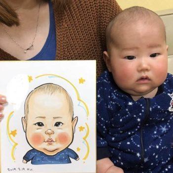 赤ちゃんの似顔絵