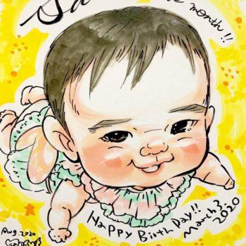 赤ちゃんの誕生日祝い